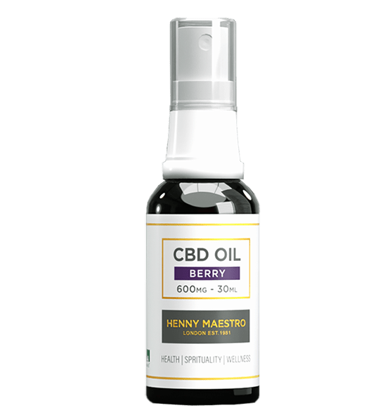Henny Maestro CBD Oil 2% Spray, 600mg Cannabidiol, Berry Flavour, 30 ml